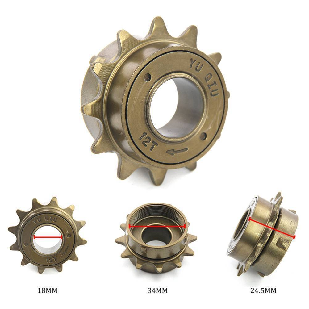 Bike Bicycle Race 12 14 16 18 Tooth Single Speed Freewheel Sprocket Parts Gear