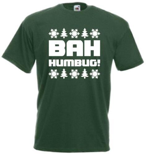 Bah Humbug T-Shirt Christmas Tee Scrooge Secret Santa Grumpy Xmas Gift Present