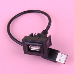 Auto-Einbau-Verlaengerungskabel-USB-Stecker-Male-Auf-Buchse-Adapter-Fuer-Toyota