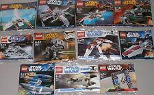 11x Lego Star Wars! 10 verschiedene Raumschiffe und Kampfläufer AT-DP OVP