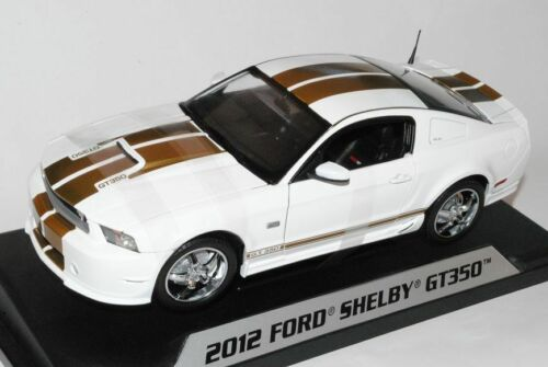 Ford Shelby Mustang 2012 GT350 Super Snake Weiss Gold 1//18 Shelby Collectibles..