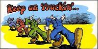 1970s R Crumb Keep On Truckin' Poster Replica Magnet -
