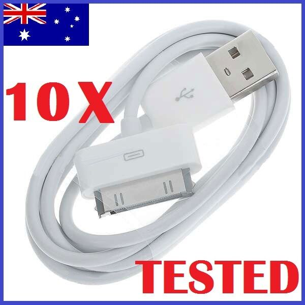 10 X USB Sync Cable Data Charger Cord for Apple iPhone 4 4S iPad iPod Touch