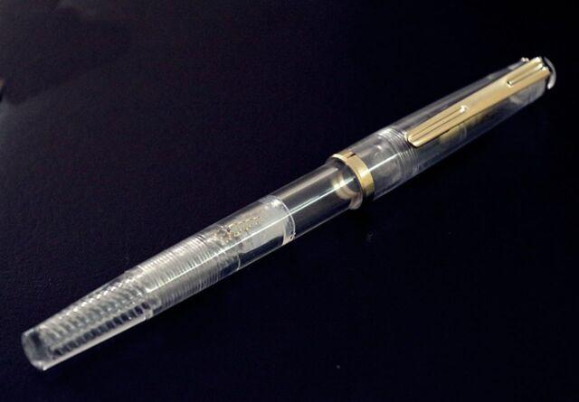 Clear Demonstrator (Piston- Filling ) Fountain Pen  - FINE NIB