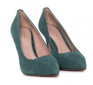 TWIN-SET-SIMONA-BARBIERI-Decollete-Pumps-Schuhe-Shoes-Leder-gruen-green-NEU-BOX