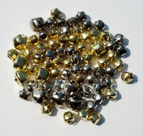 Gold /& Silver Jingle Bells Approx 70 in Assorted Sizes For Art /& Crafts