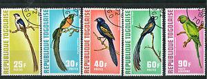 Togo 1972 Oiseaux Ensemble De Tous Les 5 Commémorative Valeurs Timbres Cto-afficher Le Titre D'origine Pour Classer En Premier Parmi Les Produits Similaires
