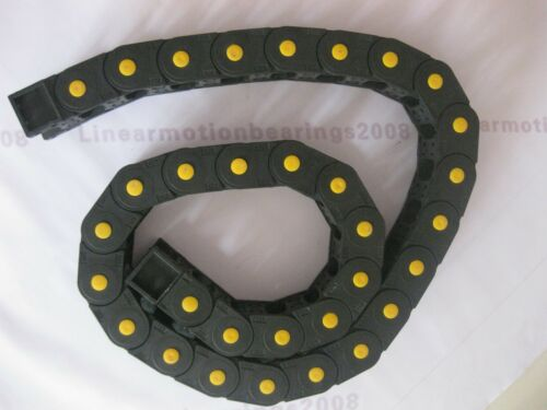 2 Cable drag chain wire carriers 25*57*R75-2000//1800 mm