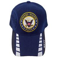Us Military Navy Blue (black Color Outer Brim) Hat Cap