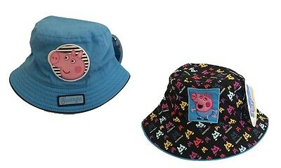 Peppa Pig Official Licensed Girls White All Over Design Bucket Hat Age 1-2 Years