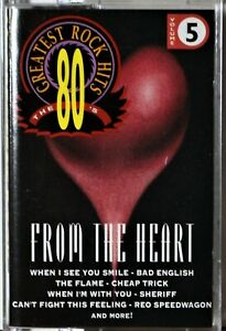 Cassette 80's Greatest Rock From the Heart TESTED Bad English REO Cheap Trick