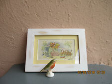 vintage framed illustration of children with rabbits by Johnny Gruelle 1918