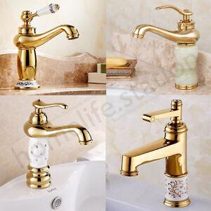 salle de bains antique laiton robinet de lavabo m langeur de bassin robinetterie ebay. Black Bedroom Furniture Sets. Home Design Ideas
