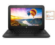 "NEW HP 11.6"" Intel Dual-Core 2.6GHz 4GB 32GB Windows 10 Streambook w/ Office 365"