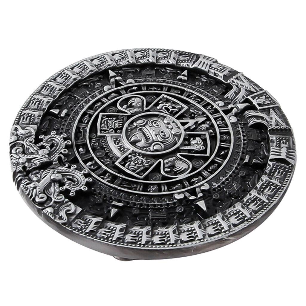 Modische Gürtelschnalle Aztekischer Maya Inca Kalender Männerschmuck