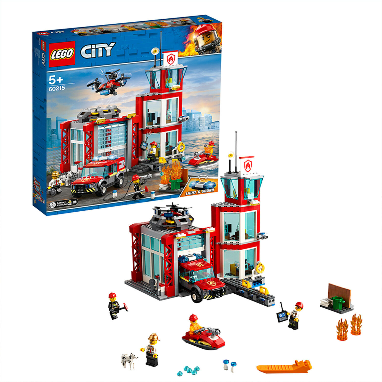 60215 LEGO CITY Fire Fire Fire Station 509 Pieces Age 5+ New Release for 2019 a25be4