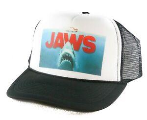 NEW-Jaws-the-movie-Trucker-Hat-mesh-hat-snapback-hat-Black