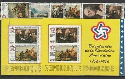 Usa Unabhän B 200 J Block 101 A Aggressiv Togo Aus 1976 ** Postfrisch Minr 1144-1149
