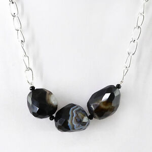 BEAUTIFUL-188-25-CTS-NATURAL-SINGLE-STRAND-BLACK-ONYX-FACETED-BEADS-NECKLACE