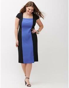 Details about LANE BRYANT Infinite Stretch Colorblock Dress Womens Plus  sizes 16 20 24 26