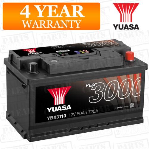 Yuasa Car Battery Calcium Black Case 12V 720CCA 80Ah T1 For Volvo XC60 2.4 D5
