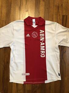 Vintage-Authentic-2001-Adidas-Ajax-Amsterdam-Soccer-Football-Jersey-Size-2XL