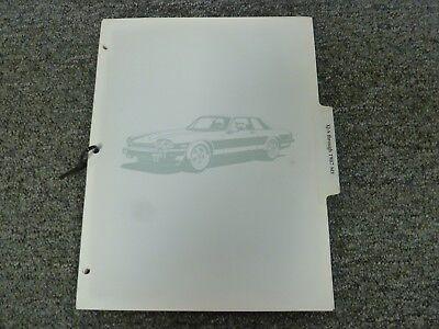 1987 Jaguar XJS Coupe Electrical Wiring Diagrams Manual 5 ...