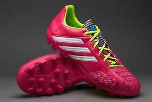 Adidas-Predator-Absolado-LZ-TRX-AG-chaussures-de-football-Rose-Lime-Blanc-Diverses-Tailles
