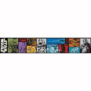 Star-Wars-Episode-VII-Bordure-Papier-Peint-Adhesif-Garcons-Chambre