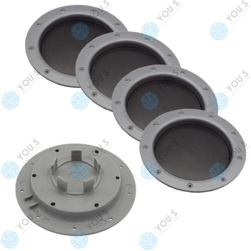 S ORIGINAL eje casquillos eje tapa la rueda tapa 147,0 58.0 mm plata 5 x usted