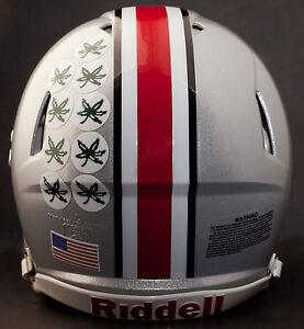 OHIO-STATE-BUCKEYES-MINI-Football-Helmet-BUCKEYE-AWARD-Decal-Sticker-5-ct