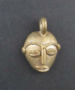 Traditional-Mask-Brass-Pendant-from-Africa-Ghana-African-Large-Hole-Handmade