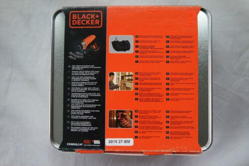 Black /& DeckerC CS3652LCAT 3,6 V  Li-Ion Akku Schrauber  Akkuschrauber
