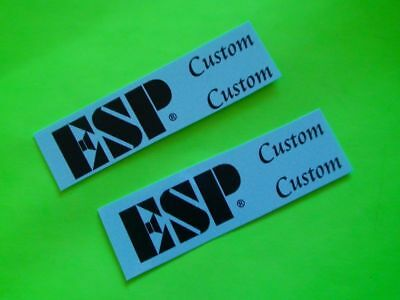 ESP Guitar Neck 2 Custom Silver//Gold Headstock Waterslide Decals Highest Quality
