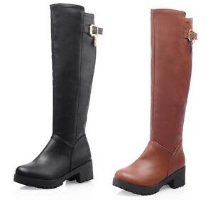 Stivaletti stivali scarpe anfibi donna tacco 5 cm simil pelle comodi caldi 9112