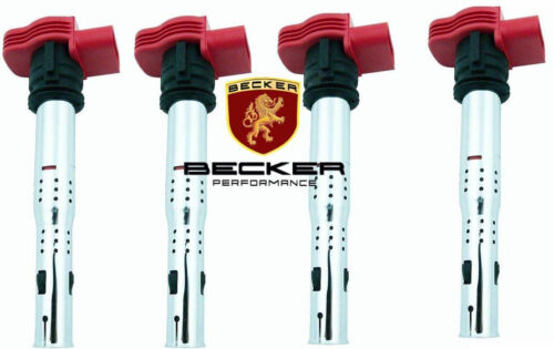 Becker High Performance Ignition Coils 4PCS For Audi Volkswagen 2.0L engines