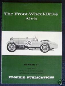 ALVIS FRONT WHEEL DRIVE CAR PROFILE PUBLICATIONS No 51
