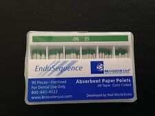 1 Pack Of Brasseler Endosequence Paper Points Size 35 Taper 06