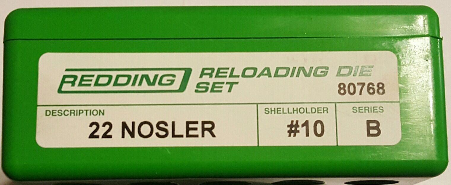 80768 Conjunto de 22 Nosler 2 Die rojoding-Totalmente Nuevo-Envío Gratis