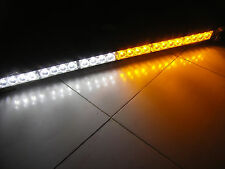 Amber/white 24LED Emergency Strobe Safety Warning Light Bar Car truck ATV Pickup