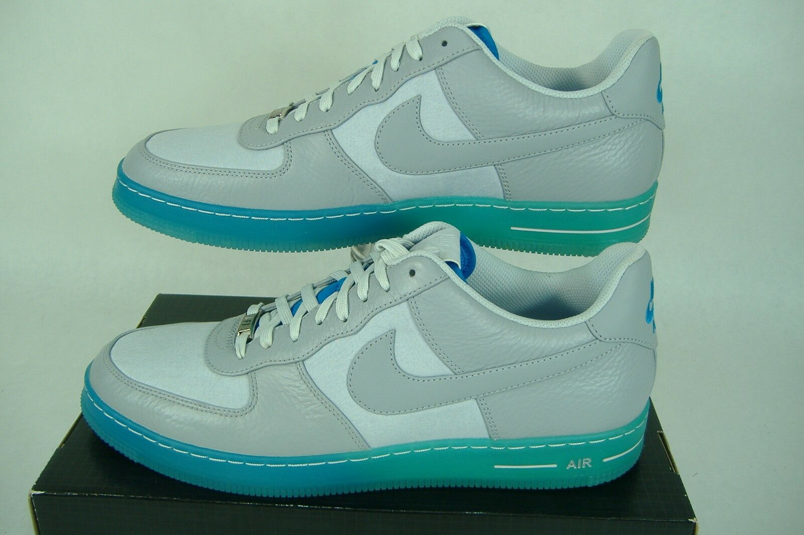 New RARE Mens 13 NIKE AF1 Downtown BR Gray Blue Party Shoes 135 644571-001
