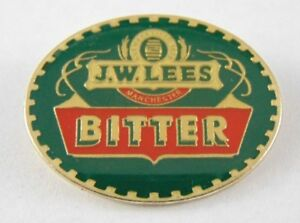 J-W-LEES-Bitter-Manchester-Pin-Badge-Pub-Ale-House-Bar