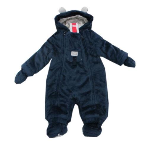 Kanz Babyanzug Overall Einteiler wattiert Kapuze Unisex blau Gr.56,62,68,74