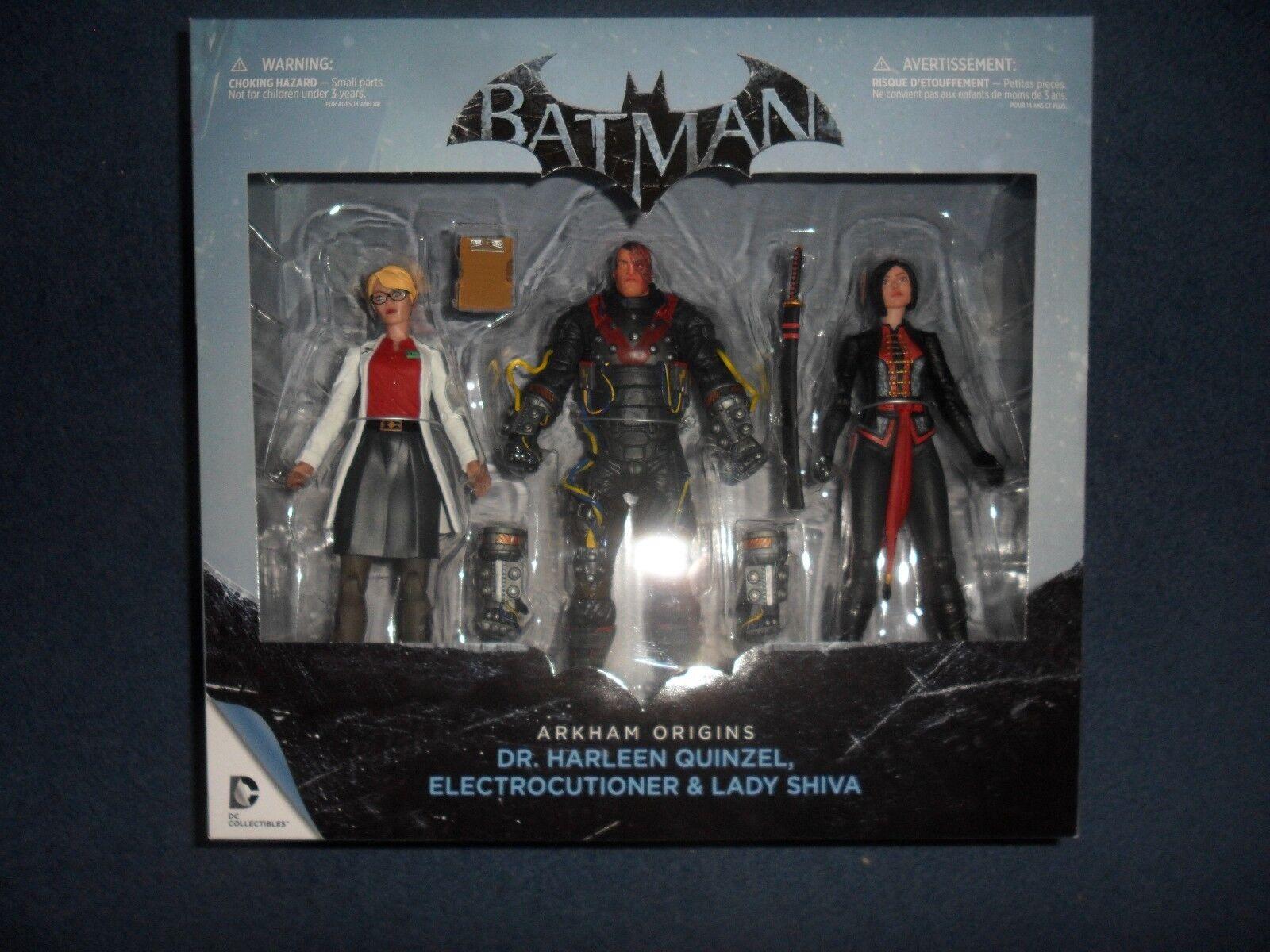 Batman Batman Batman Arkham Origins  BOX SET Dr Harleen Quinzel Lady Shiva BNIB   FPP fd6705