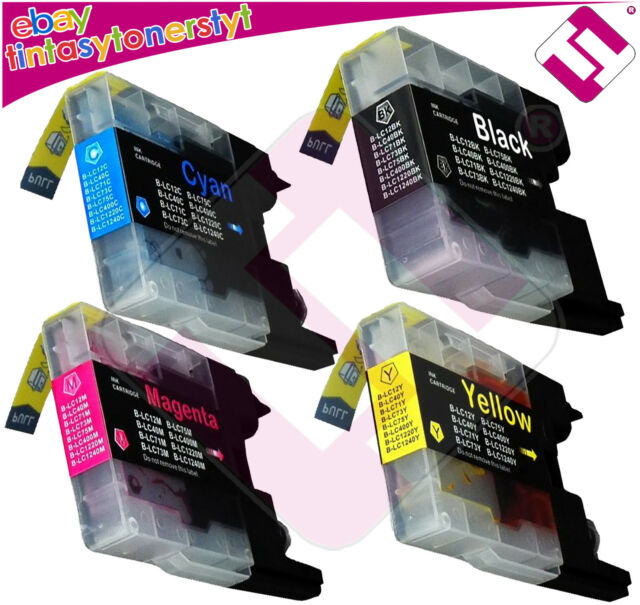 Pack 4 Ink LC 1280 for Printer DCP J925n Cartridge Nonoembrother
