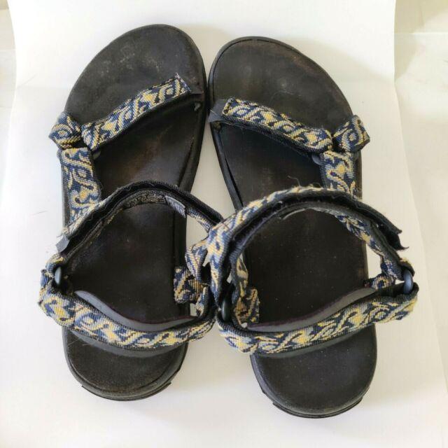 Teva Women's Original Universal Sandal Yellow Blue Swirl Size 8 Hiking Walking