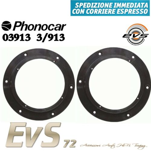 Phonocar 03913 Coppia Supporti Anelli Adattatori Casse Altoparlanti 165 VW Skoda