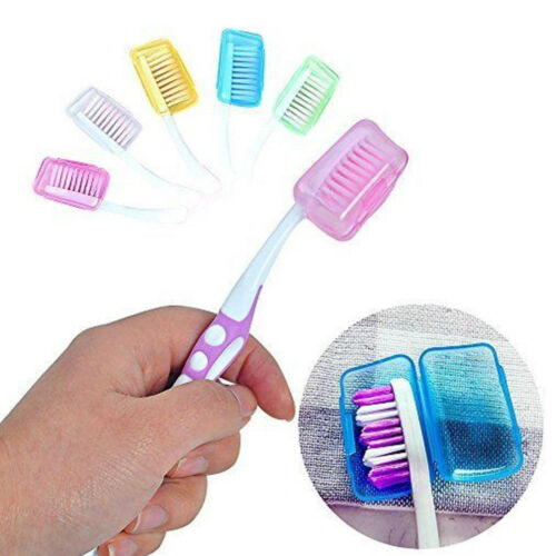 5pcs Toothbrush Head Covers Case Cap Travel Hike Camping Brush Cleaner Protector