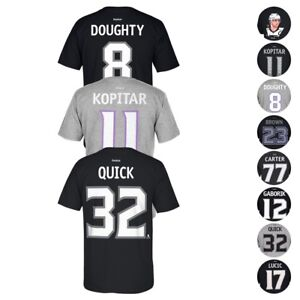8b840154702fb Details about Los Angeles Kings NHL Reebok Player Name & Number Premier  Jersey T-Shirt Men's