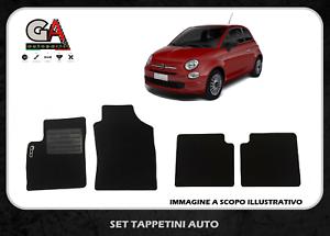 Tappetini Fiat 500 in moquette battitacco in plastica tappeti auto 4 pezzi